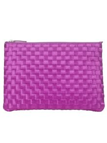 Annabel satin weave clutch bag