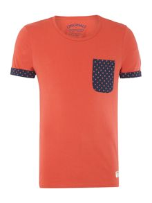 Cotton dot pocket t-shirt