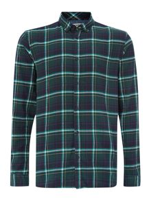 long sleeved large check shirt