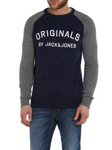 Men`S Raglan Crew Neck Knit