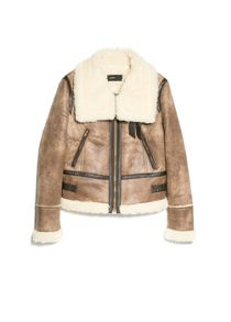 Faux shearling-lined jacket