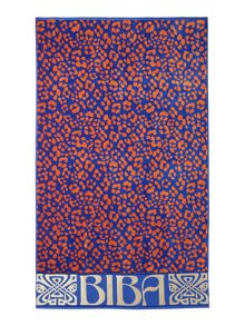 Bright animal print beach towel