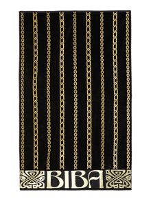 Biba Chain Beach Towel in Black & Gold