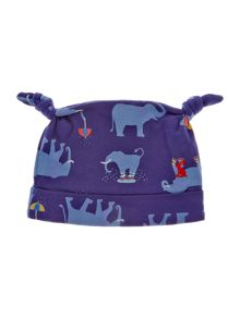Baby boys welly elephant print hat