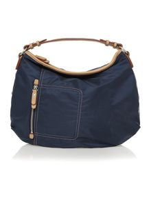 Tibberton navy medium hobo bag