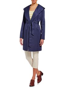 Lightweight hooded wrap jacket
