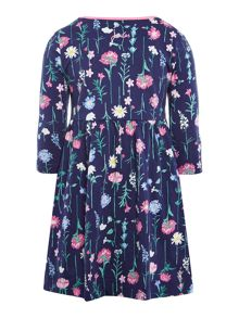 Girls floral print dress with long sleeves