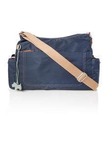 Tibberton navy large crossbody baby bag