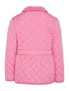 Girls quilted popper jacket
