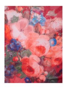Mystical Floral Long Silk Scarf