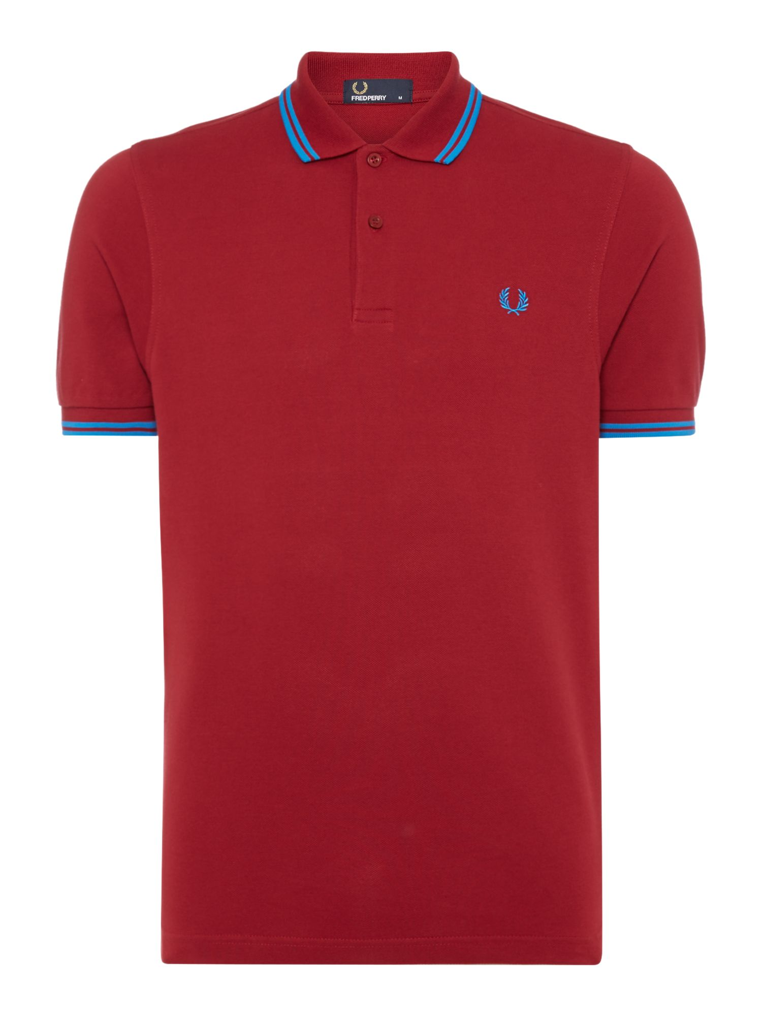 Mens Fred Perry Twin tipped regular fit polo shirt Red