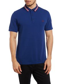Tape collar slim fit polo