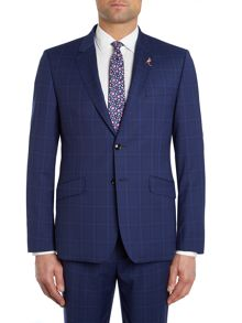 Ted Baker Wellbe Bright Blue Check Suit Jacket