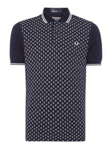 Paisley print drake slim fit polo