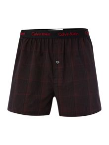 2 pack check and mini star woven boxer
