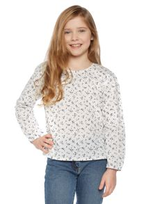 Girls Long Sleeved Floral Blouse