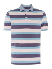 Hughson Striped Pique Polo