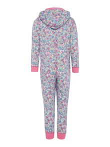 Girls floral onesie