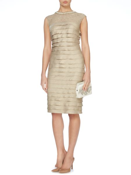 Linea Beaded neck detail shutter dress