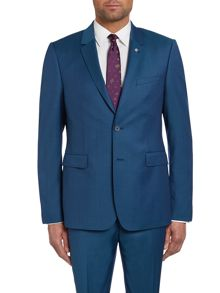 Ted Baker Dec Slim Fit Teal Solid Notch Suit Jacket