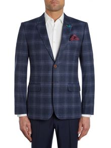 Arga Slim Fit Purple Over Check Jacket