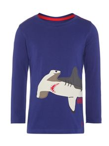 Boys long sleeve shark print top