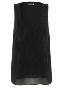 Black Deco Bead Vest