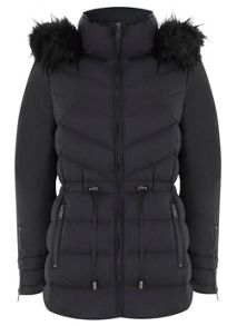 Black Short Puffa Coat