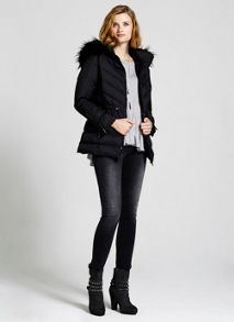 Black Short Puffer Coat