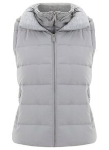 Grey Knit Back Gilet