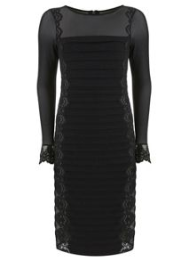 Black Lace Bandage Dress