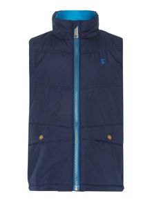 Boys zip through padded gilet