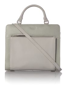 Clerkenwell grey medium ziptop tote