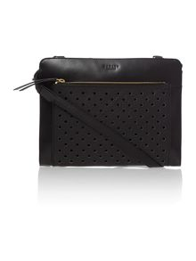 Clerkenwell punch black medium ziptop crossbody