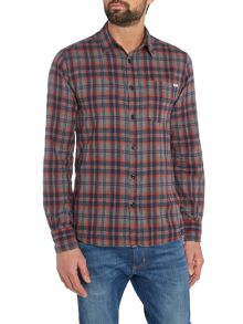 Men`s long sleeved easy flannel check shirt