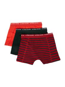 Boys 3 pack striped shorts