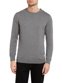 Men`S Vintage Crew Button Neck Knit