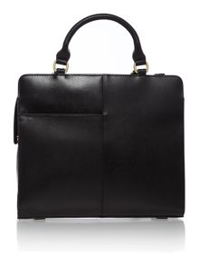 Clerkenwell punch black medium tote bag