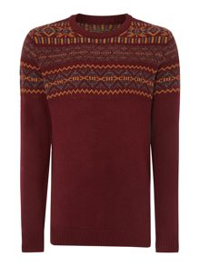 Men`s placement fairisle knit