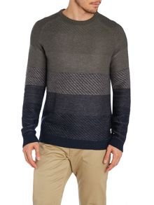 Men`S Graded Stripe Knit