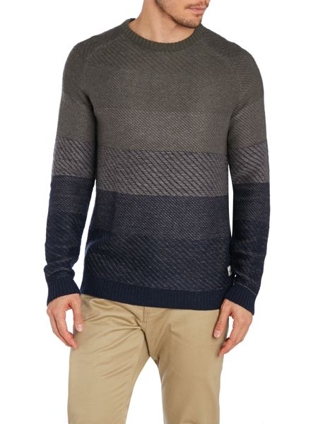 Jack & Jones Men`S Graded Stripe Knit