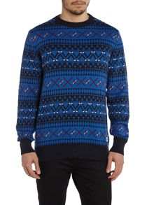 Men`s all over fairisle knit