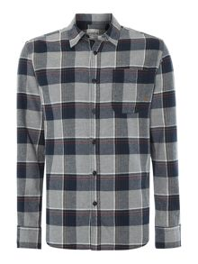 Men`s long sleeved large flannel check shirt