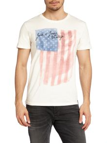 Men#s cotton us flag t-shirt