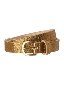 fee embossed belt