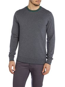 Striped knitted crewneck