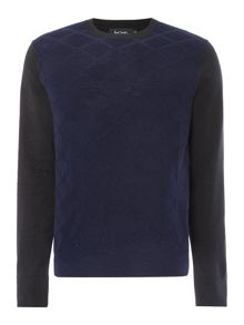 Paul Smith Jeans Jacquard front knitted crew