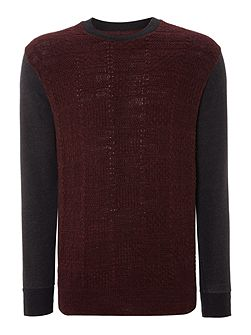 Men's Paul Smith Jeans Knitted pannel sweatshirt
