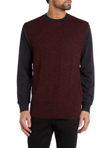 Knitted pannel sweatshirt