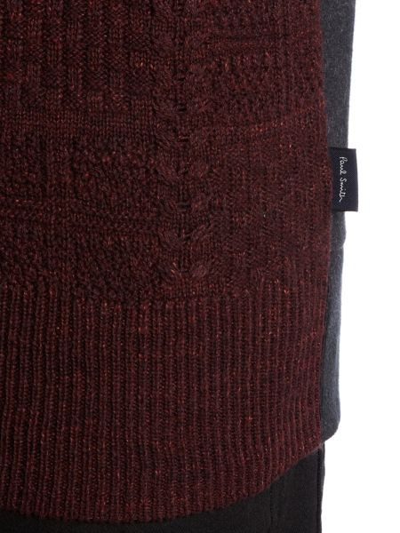 Paul Smith Jeans Knitted pannel sweatshirt